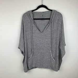 Juicy Couture Gray Hooded Bling Swim Suit Coverup